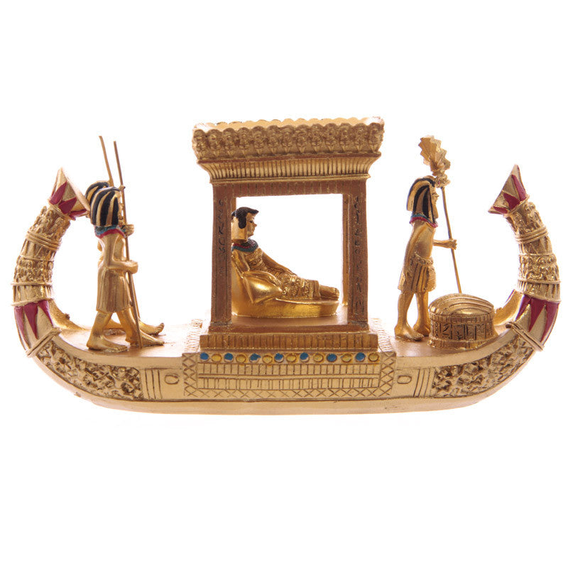 Decorative Gold Egyptian Canopy Boat