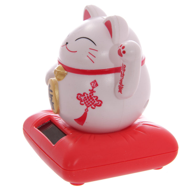 Cute Waving Maneki Neko Cat Design Solar Pal