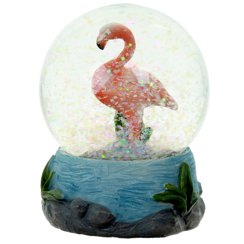 Cute Collectable Flamingo Snow Globe