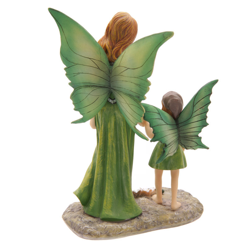 Decorative Earth Mother and Daughter Fairy Figurine