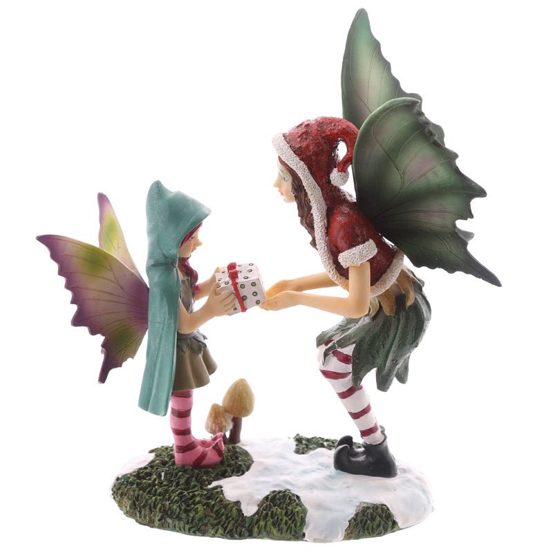 Decorative Fairy and Child Christmas Figurine