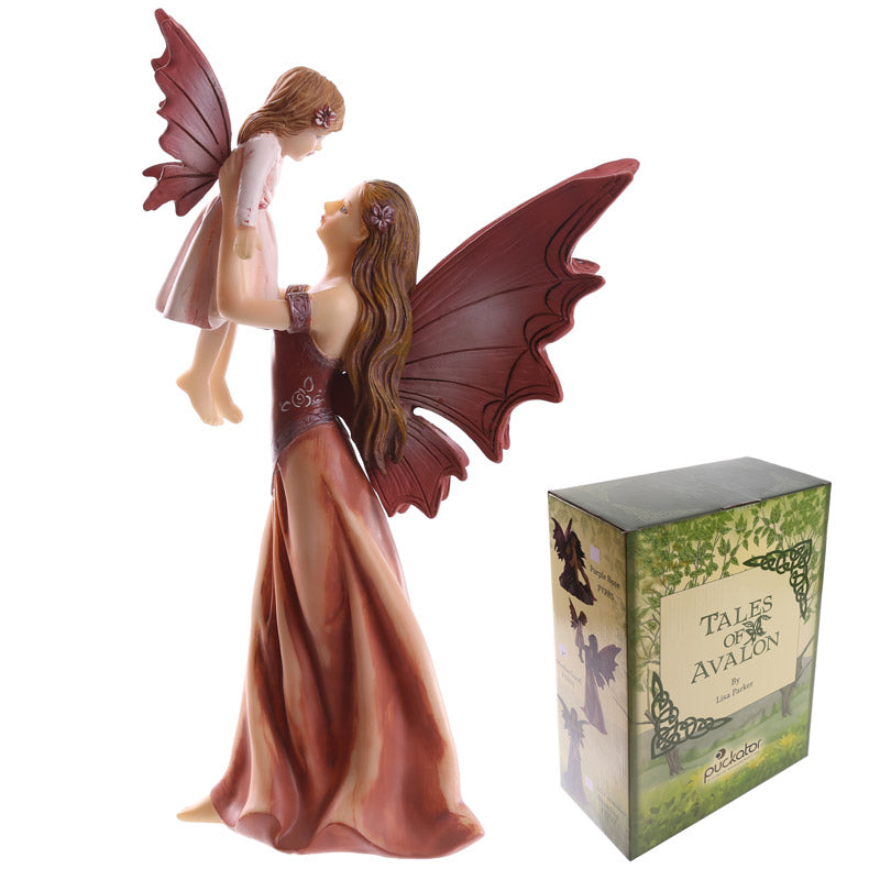 Decorative Mother and Daughter Fairy Figurine