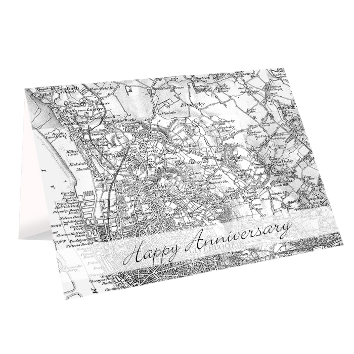 Personalised 1805 - 1874 Old Series Map Card