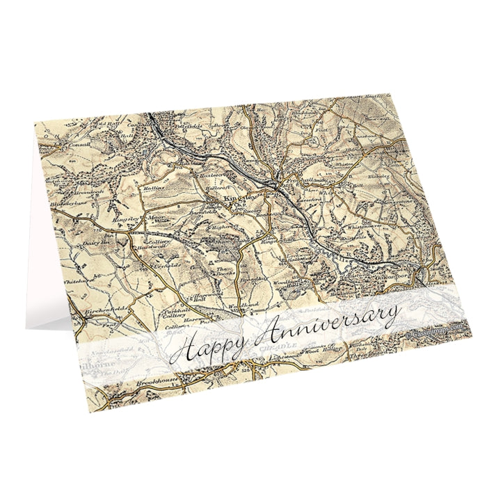 Personalised 1896 - 1904 Revised New Map Card