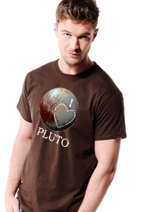 'I Love Pluto' Men's T-Shirt