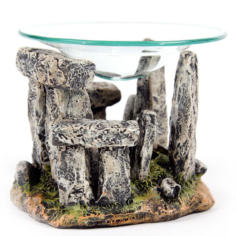 Mystical Stonehenge Design Oil Burner with Glass Dish