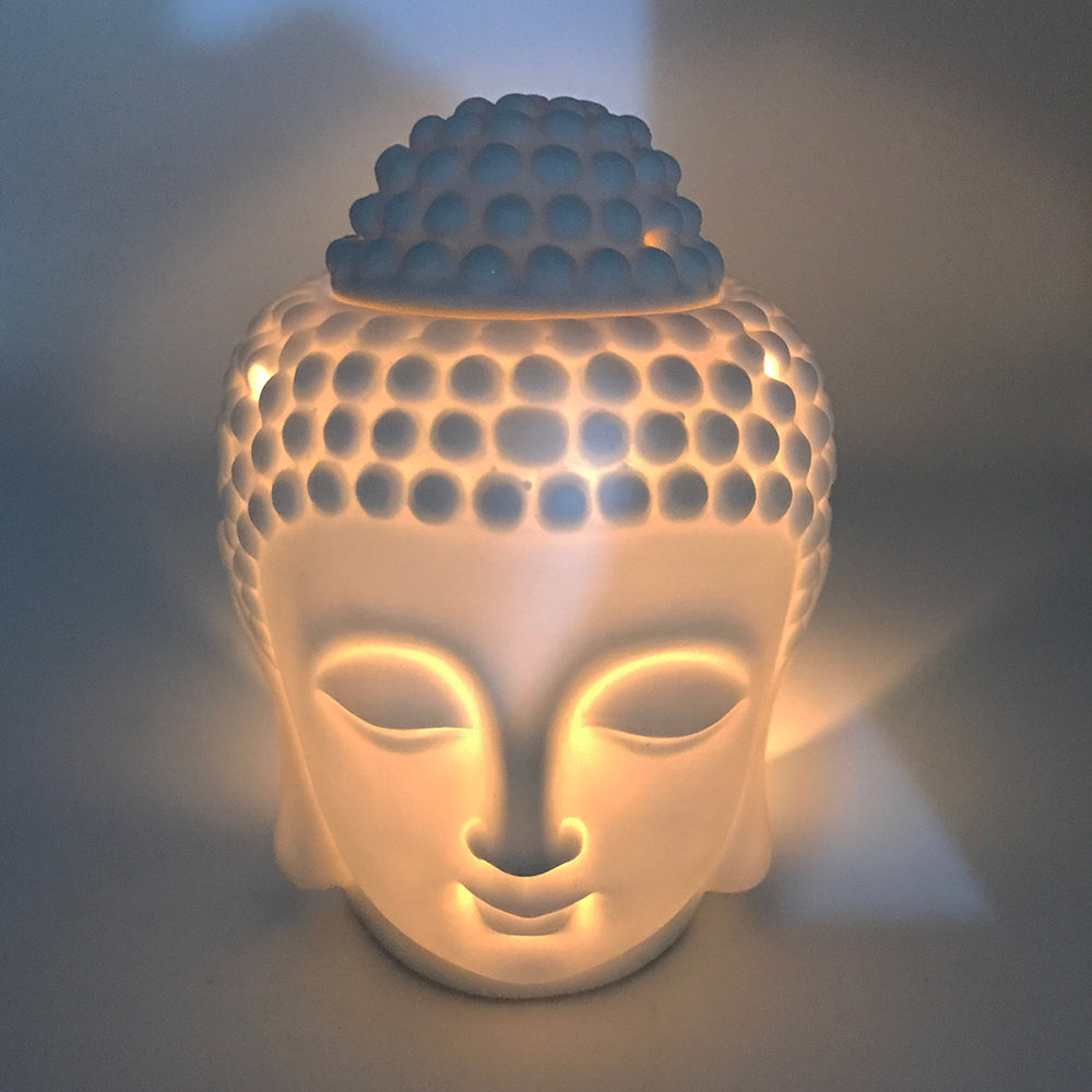 Buddha Head Decorative Oil Burner