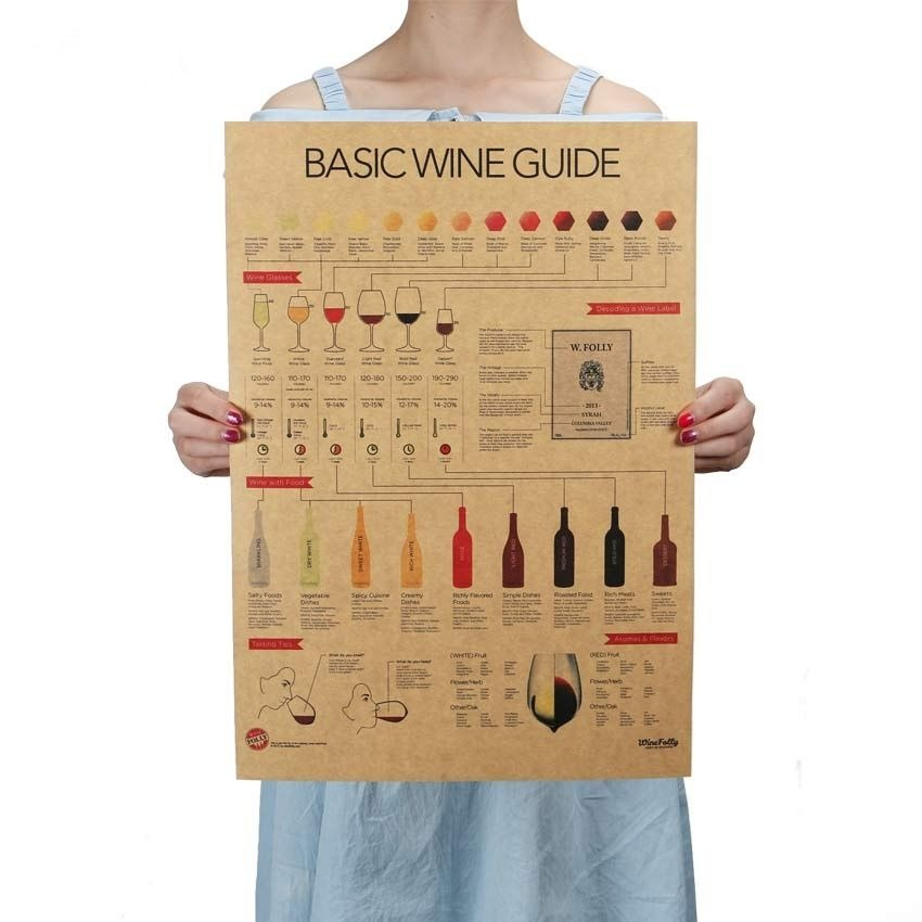 Retro Style Basic Wine Guide Poster