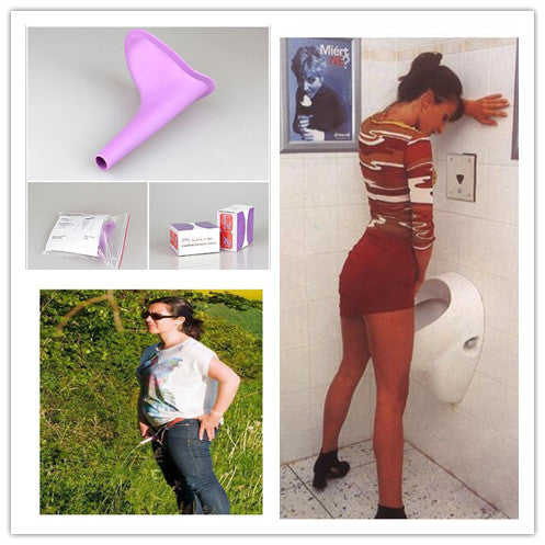 New Design Women Urinal Travel Outdoor Camping Soft Silicone Urination Device Stand Up & Pee