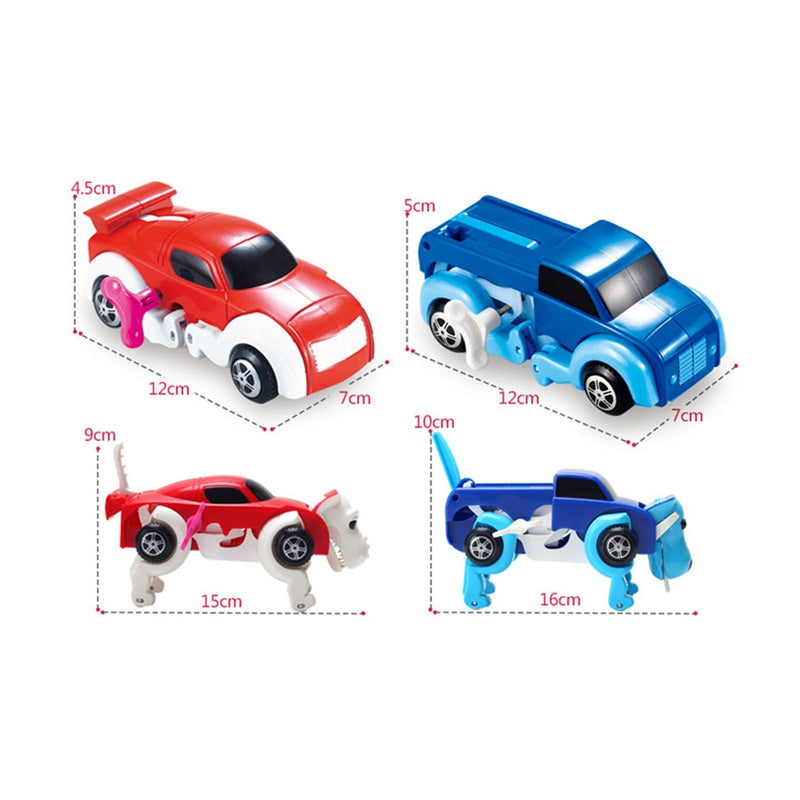 Automatic Transform Dog Car Vehicle Clockwork Wind Up Toy