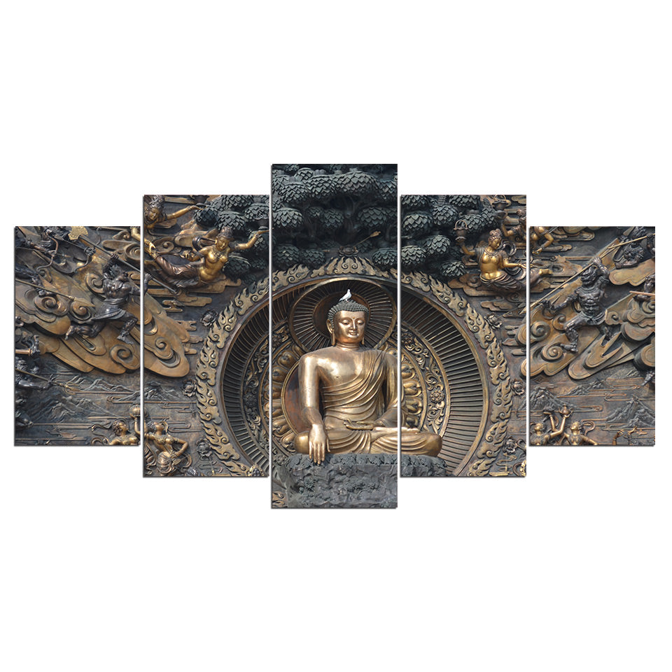 HD Printed Sitting Buddha Canvas Wall Art