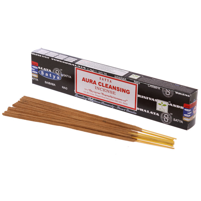 Satya Nag Champa Incense Sticks - Aura Cleansing (Set of 12)
