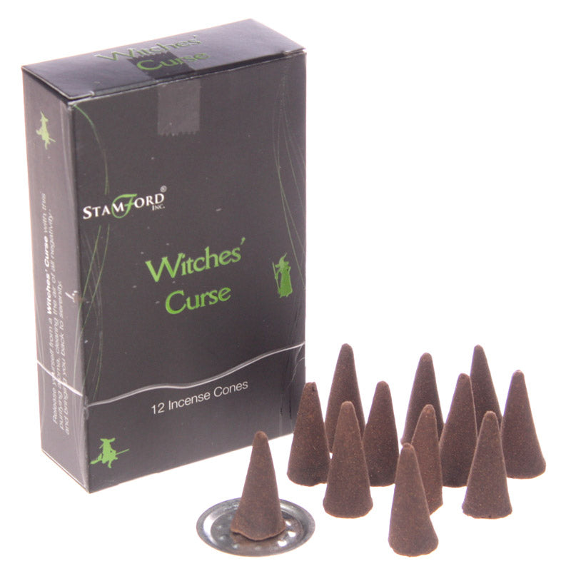 Stamford Black Incense Cones - Witches Curse