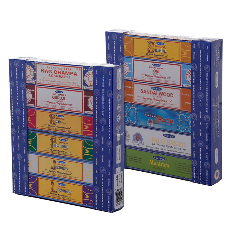 Nag Champa & Satya Incense Sticks Mix (Set of 12)
