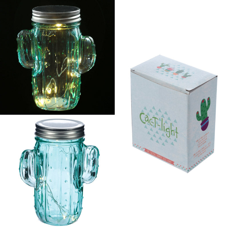 Cactus LED Light Jar