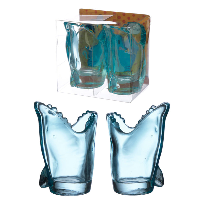 Fun Collectable Shark Shot Glass Set of 2