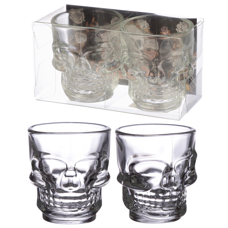Fun Collectable Skull Glass Shot Set of 2