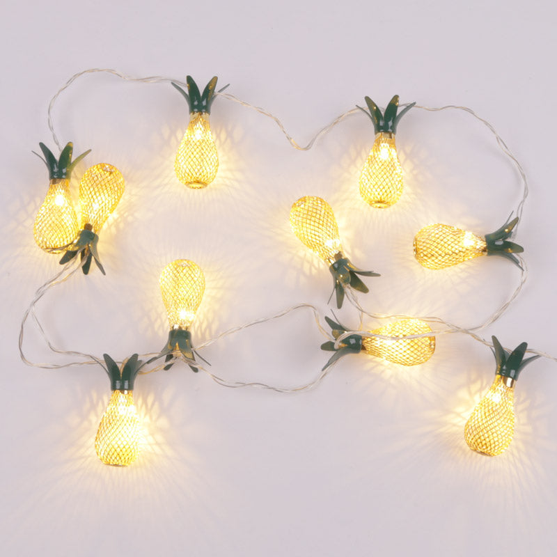 Decorative LED Light - Golden Pineapple String