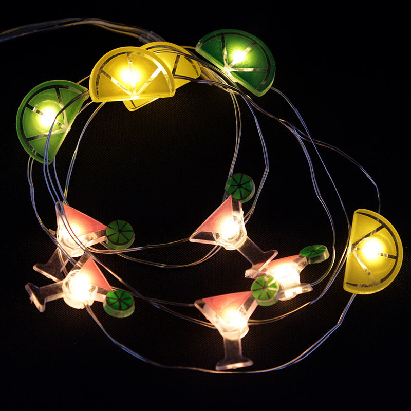 Decorative LED Light String - Cocktails, Lemon and Lime
