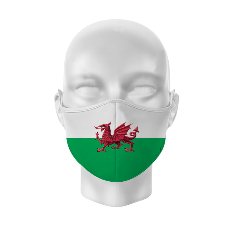 Welsh Flag Reusable Face Cover