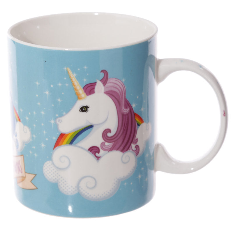 Fun New Bone China Mug - Unicorn Mug I Don't Believe in Humans