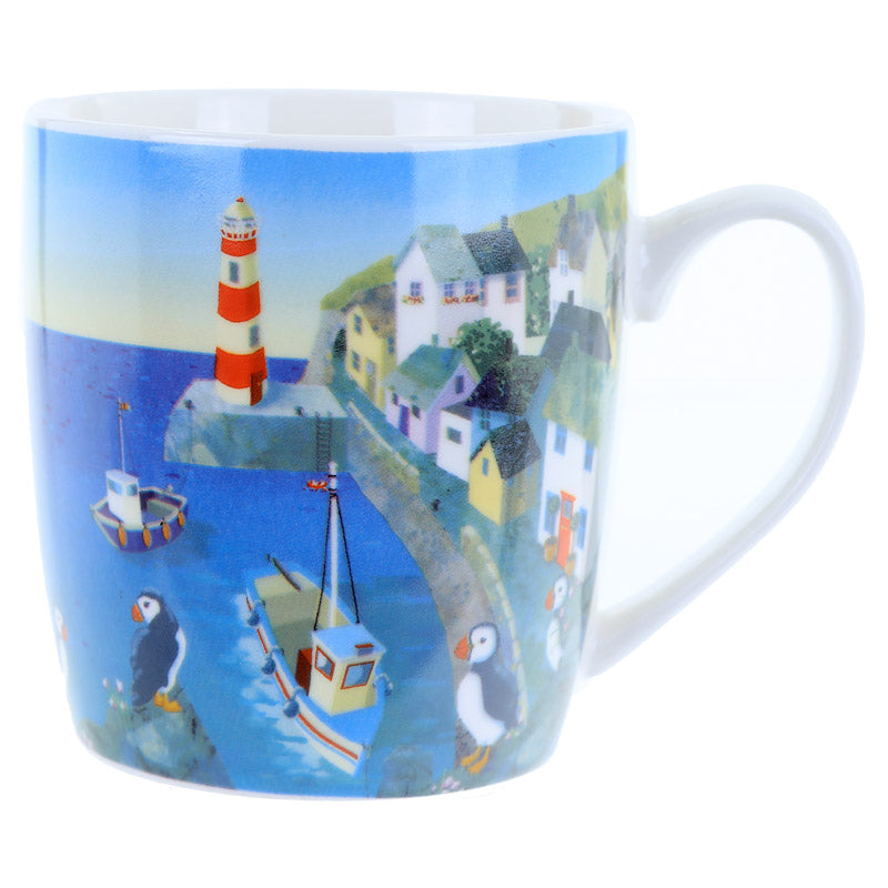 Fun Seaside New Bone China Mug - Puffin Cove