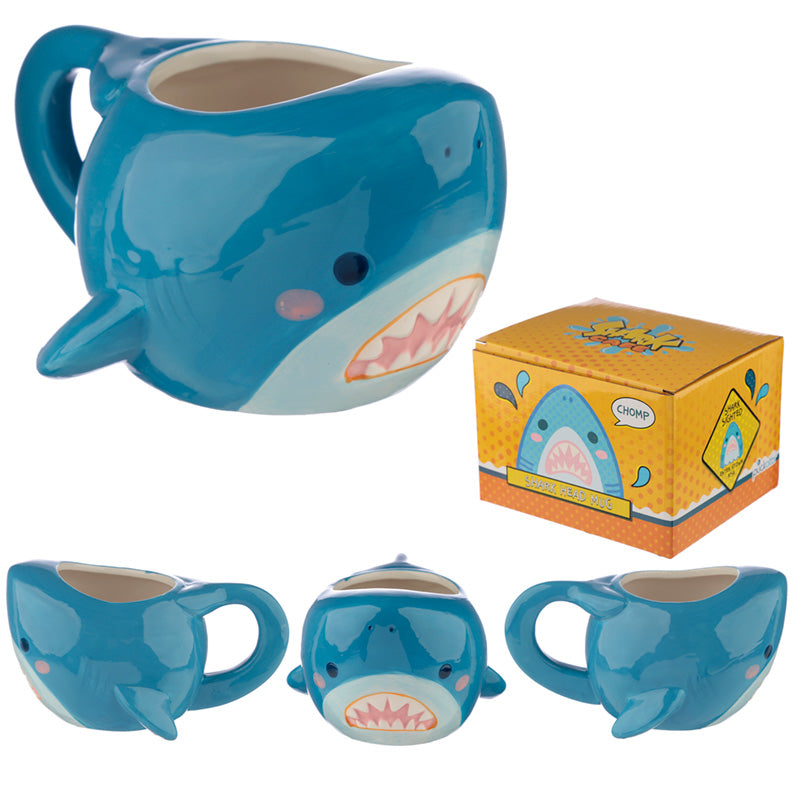 Fun Shark Head Ceramic Mug
