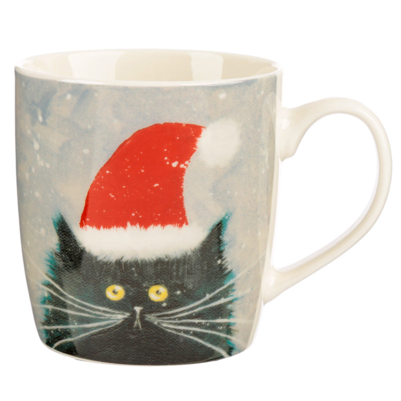 Kim Haskins Christmas Cat Ceramic Mug