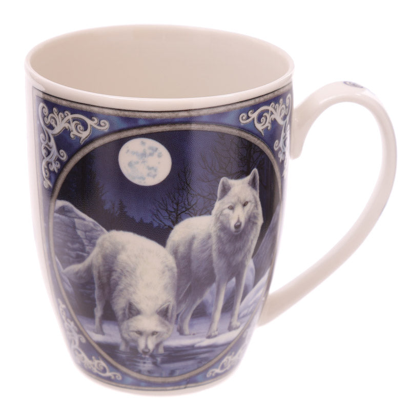 Fantasy Winter Warrior Wolf Design New Bone China Mug
