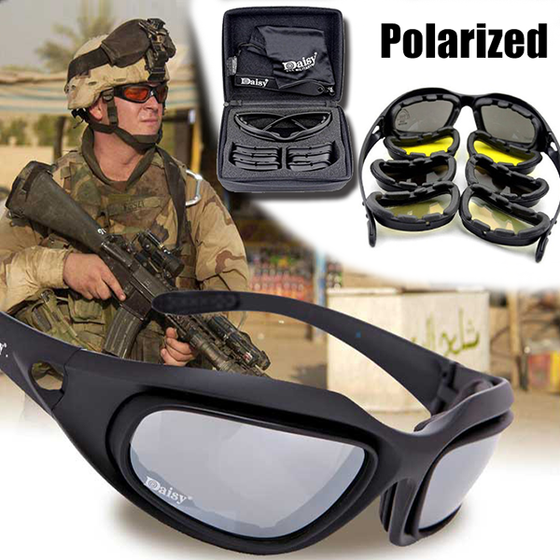 Polarized Army Goggles Sunglasses/Men Military Sunglasses