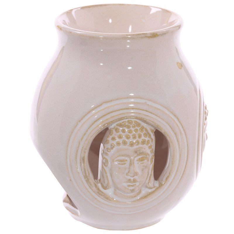 Decorative Ceramic Buddha Relief Oil Burner