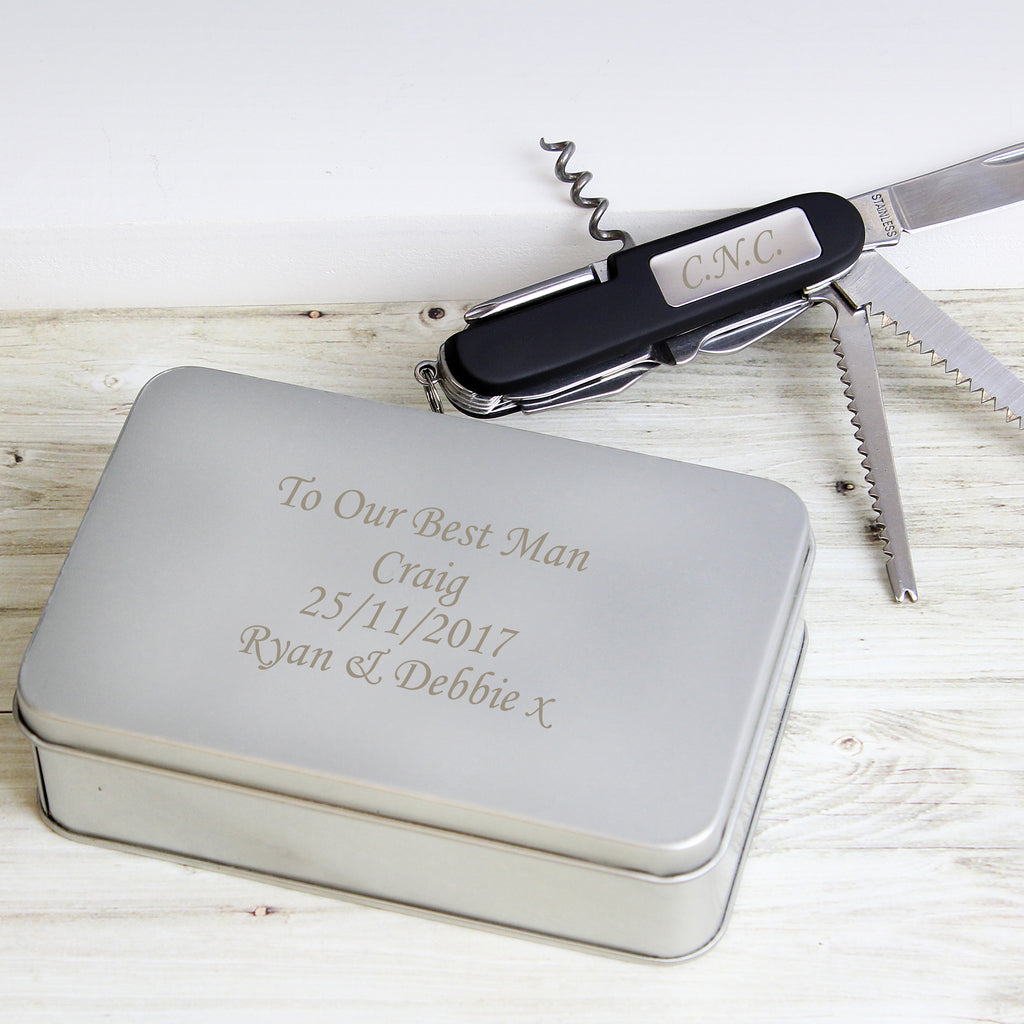 Personalised Pen Knife and Box Set