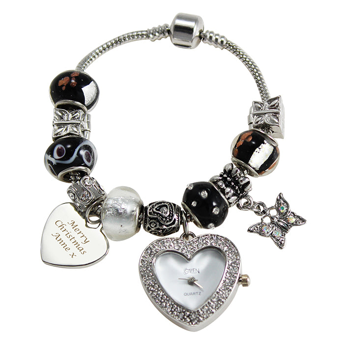 Personalised Galaxy Watch Charm Bracelet 18cm