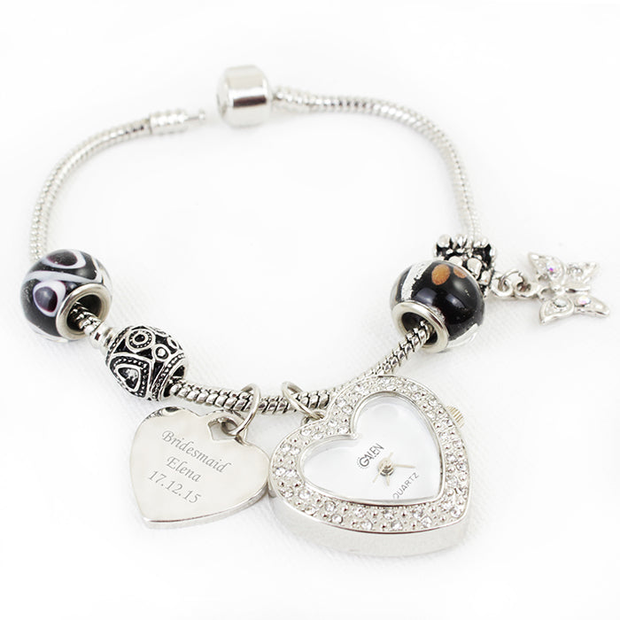 Personalised Galaxy Watch Charm Bracelet 21cm
