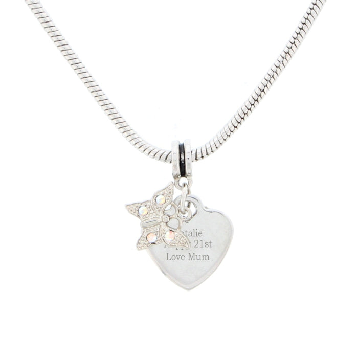 Personalised Butterfly Charm Necklace