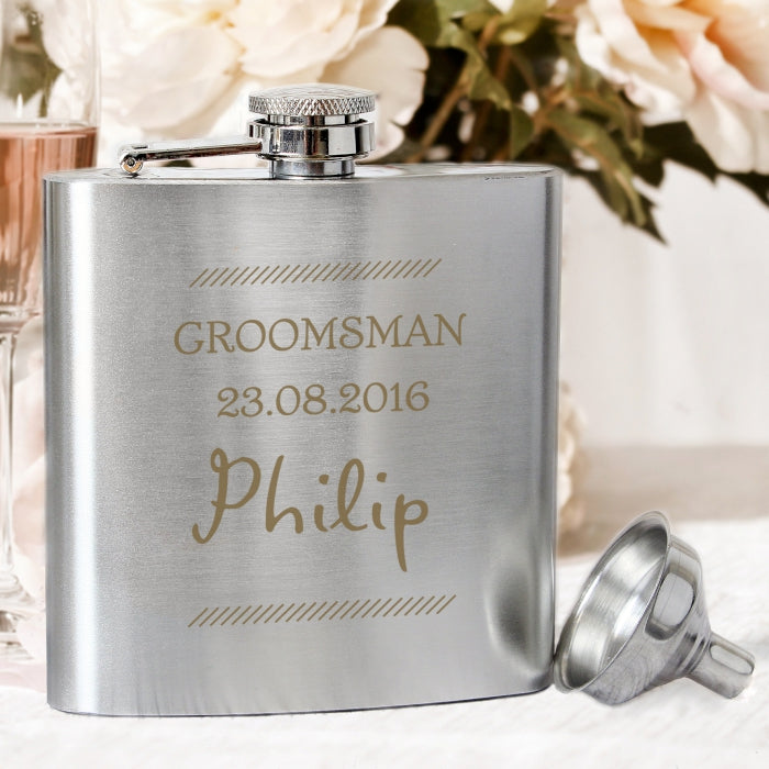 Personalised Classic Stainless Steel Hip Flask