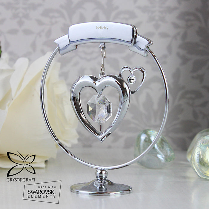 Personalised Crystocraft Heart Ornament