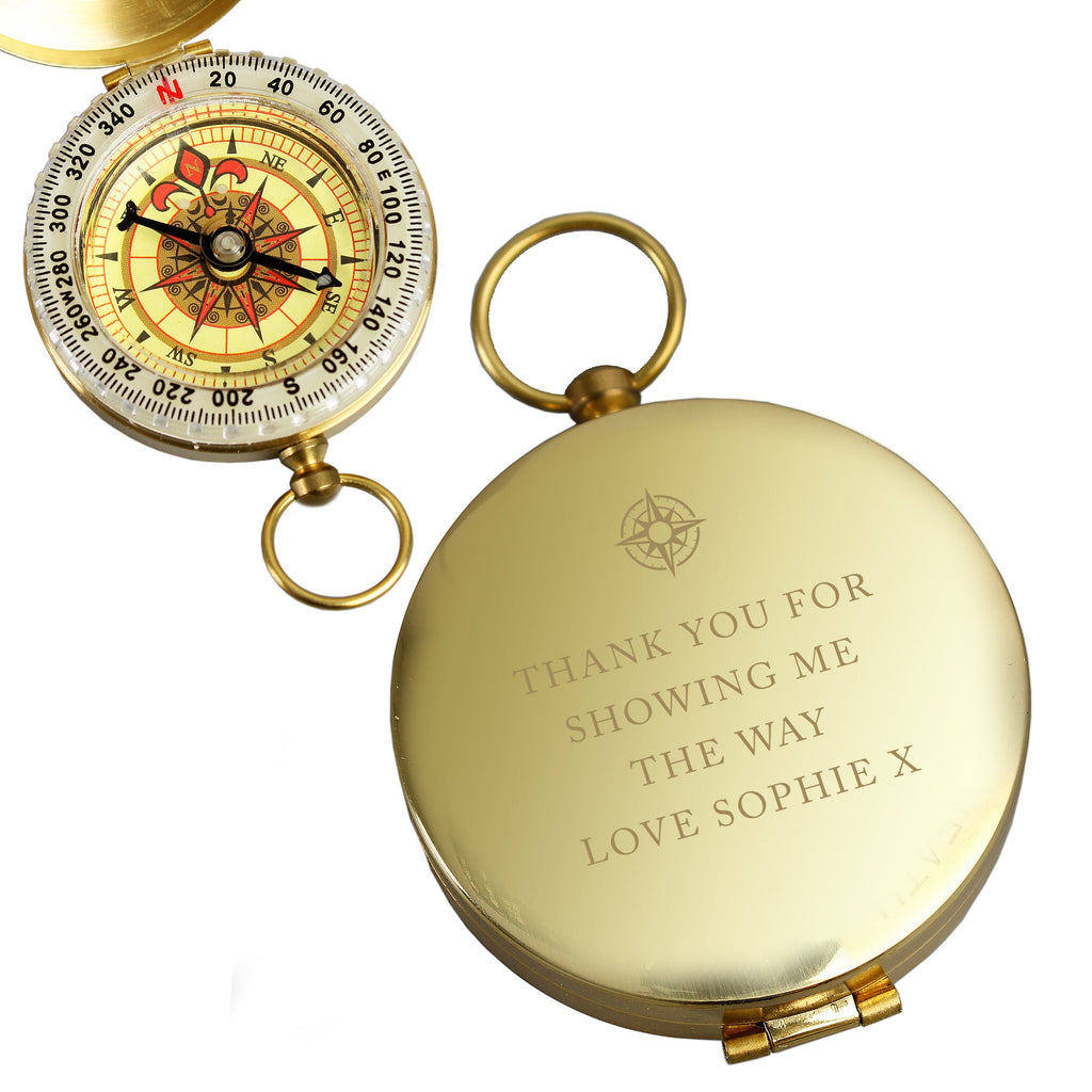 Personalised Free Text Keepsake Compass