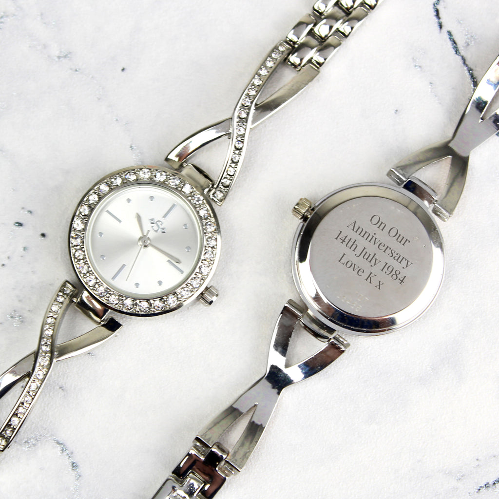 Personalised Silver Ladies Infinity Watch