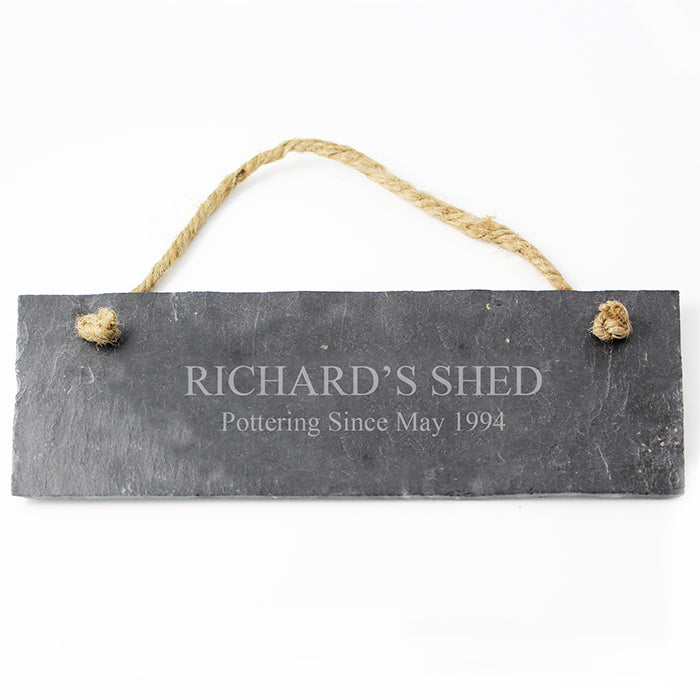 Personalised Engraved Hanging Slate Plaque