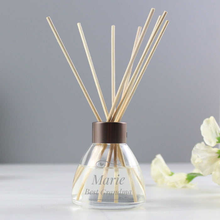 Personalised Swirls & Hearts Reed Diffuser