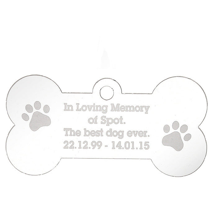 Personalised Acrylic Dog Bone Decoration