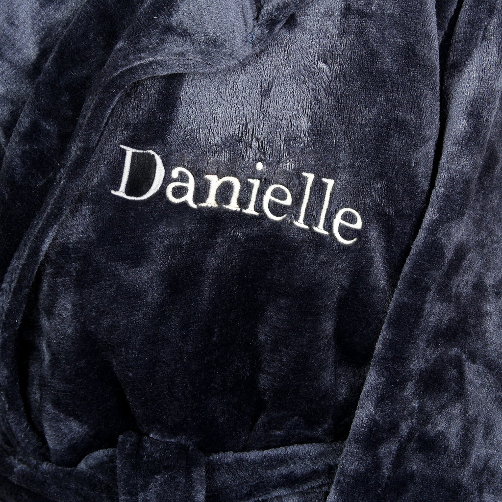 Personalised Name Luxury Hooded Robe