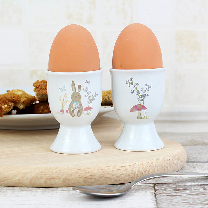 Personalised Easter Meadow Bunny Egg Cup