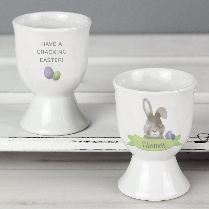 Personalised Easter Bunny Egg Cup