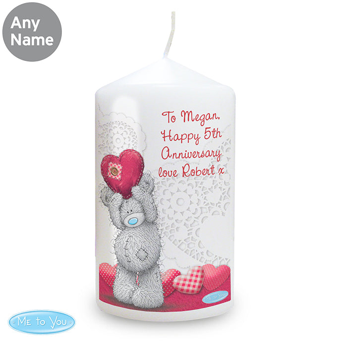 Personalised Me To You Heart Candle