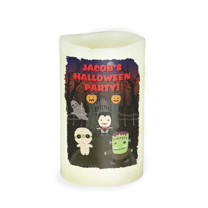 Personalised Halloween LED Candle
