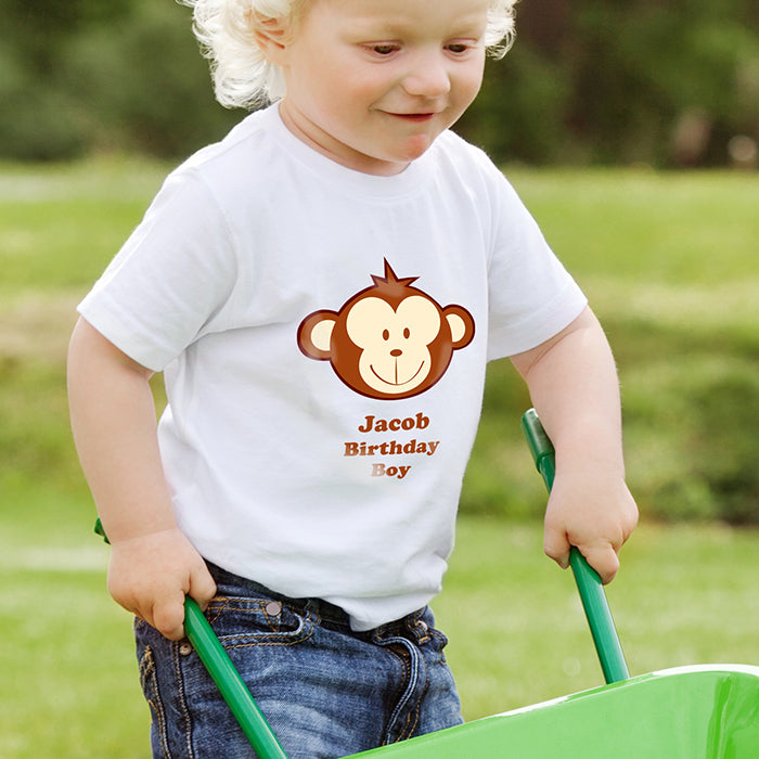 Personalised Monkey Boy Tshirt 1-2 years