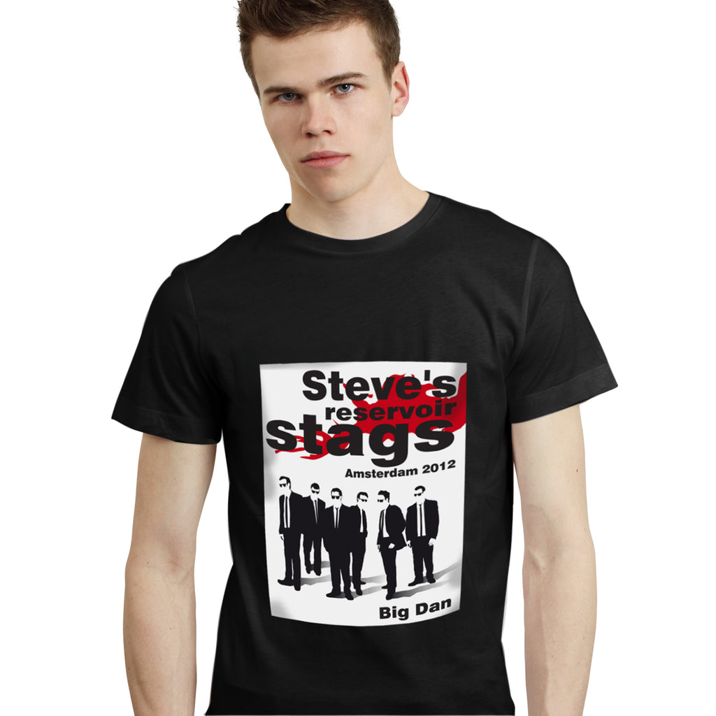 Personalised Reservoir Stags T-Shirt - Black - Medium