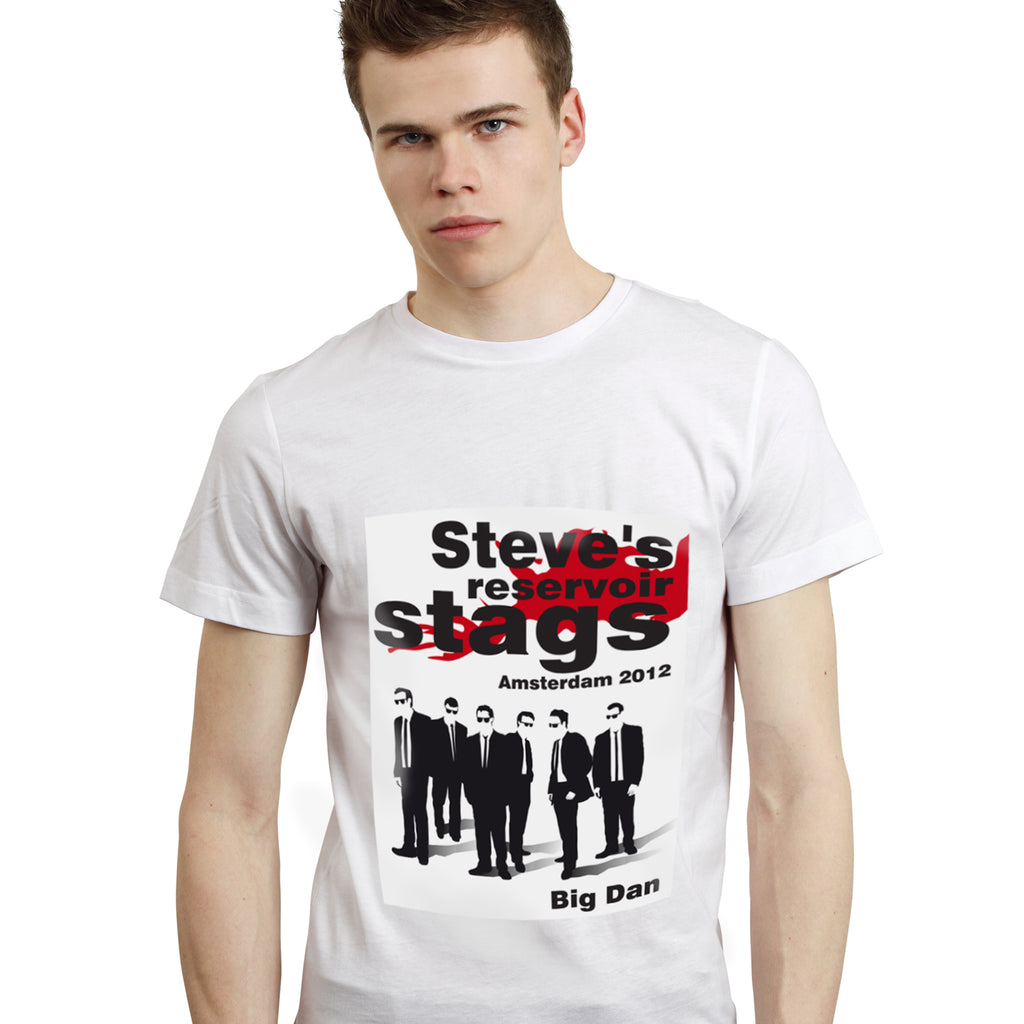 Personalised Reservoir Stags T-Shirt - White - Small